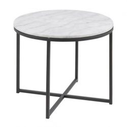 Kruus Table d'Appoint | Blanc Marbre
