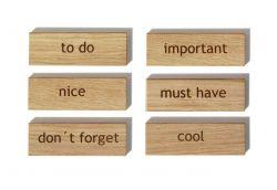 Holzmagnete | Wörter