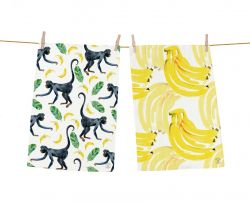 Dish Towels Banana Fan Set of 2
