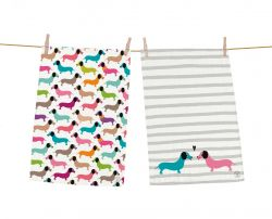 Dish Towels Dachshund Set of 2