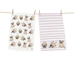 Dish Towels Playful Dogs Set of 2