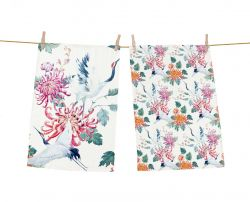 Dish Towels Asian Barker Set of 2