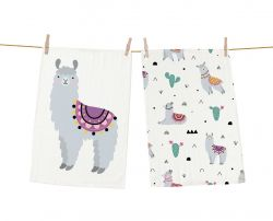 Dish Towels Llama Mexican Set of 2
