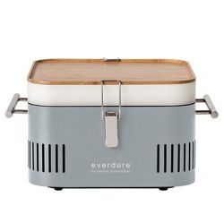 Cube Barbecue Carbon de Bois | Gris Pierre