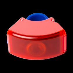 Rear Light 2 Curve  | Neon Coral Pink / Dark Blue