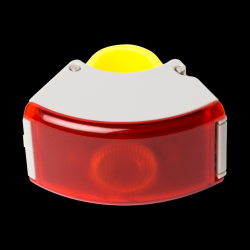 Rear Light 2 Curve | Gray / Acid Yellow