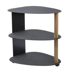 Table d'appoint Curve Double | Noir