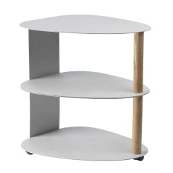 Curve Table Double | Metallic