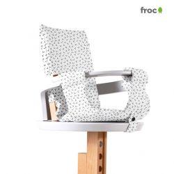 Froc Kissen | Flock Schwarz/Weiß