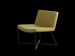 Armchair Zero | Lemon Yellow & Black Legs
