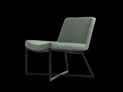 Armchair Zero | Turquoise & Black Legs