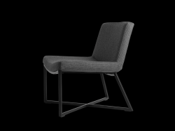 Armchair Zero | Grey & Black Legs