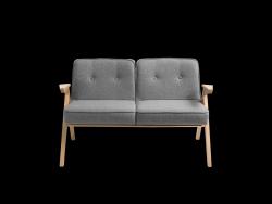 2-Sitzer-Sofa Vinc | Silbergrau