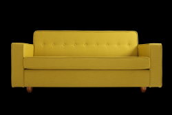 2 Seater Sofa Bed Zugo | Turmeric