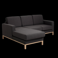 2 Seater Sofa Left Corner Scandic | Carbon Grey