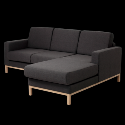 2 Seater Sofa Right Corner Scandic | Carbon Grey