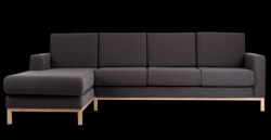 3-Sitzer-Sofa linke Ecke Scandic | Carbon Grau