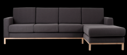 3 Seater Sofa Right Corner Scandic | Carbon Grey