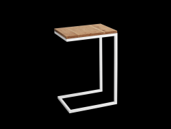 Side Table Lupe 30 cm | Oak/White