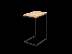 Side Table Lupe 30 cm | Oak/Black