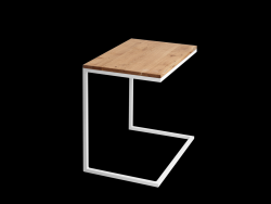 Side Table Lupe 60 cm | Oak/White
