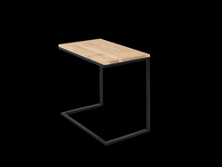 Side Table Lupe 60 cm | Oak/Black