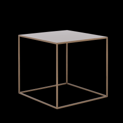 Coffee Table Tensio Metal 50 x 50 cm | Gold