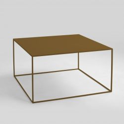 Coffee Table Tensio Metal 80 x 80 cm | Gold