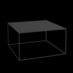 Coffee Table Tensio Metal 80 x 80 cm | Black