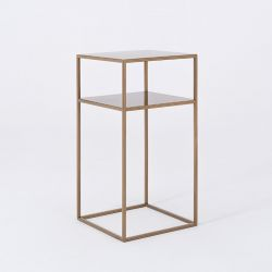Coffee Table Tensio 2 Metal 30 x 30 cm | Gold