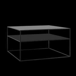 Coffee Table Tensio 2 Metal 80 x 80 cm | Black