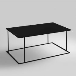 Table d'Appoint Walt 100 x 60 cm | Noir