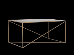 Table d'Appoint Memo 100 x 60 cm | Or