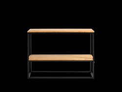 Rack Julita 75 cm 2 Shelves | Oak/Black