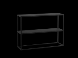 Rack Julita 75 cm 2 Shelves | Black