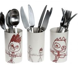 A set of Cutlery Vases Bertram