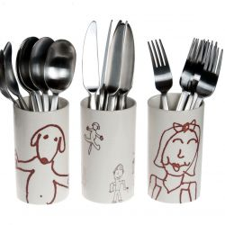 A set of Cutlery Vases Ulrike