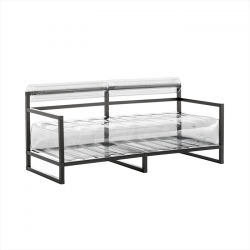 Canape Yoko Aluminium | Transparent