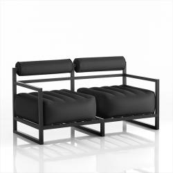 Canape Yoko Aluminium | Transparentes Schwarz