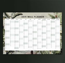 Wall Planner 2019 | Dreamy Jungle