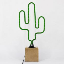 Neon Lamp Hout | Cactus