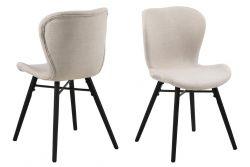 Set de 2 Chaises Matilda-A1 | Sable & Noir