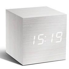 Klok Cube | Wit & Wit