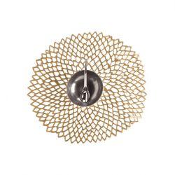 Round Placemat | Vinyl Dahlia | Brass
