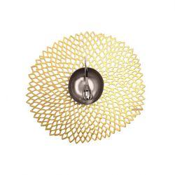 Rundes Tischset | Vinyl Dahlia | Gold