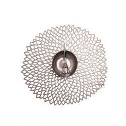Round Placemat | Vinyl Dahlia | Gunmetal