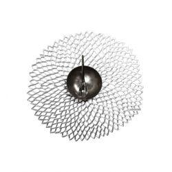 Napperon Rond en Vinyle | Dahlia Argent