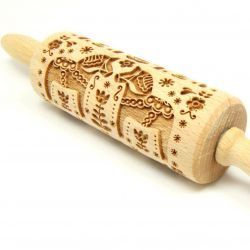 Engraved Rolling Pin | Swedish Folk