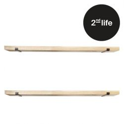2nd Life | Wall Shelves Set of 2 | Wood and Metal