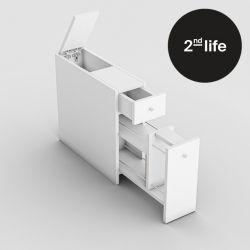 2tes Leben | Multifunktionales Kabinett Calencia | Weiß